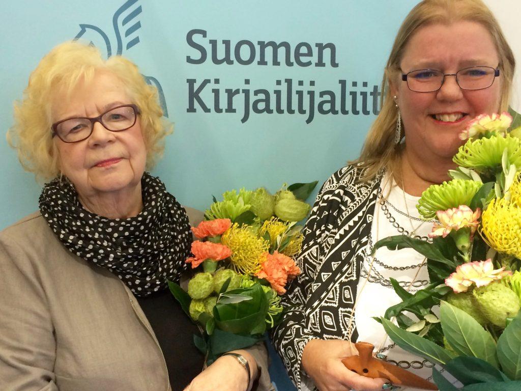 Liiton palkitsemat kirjailijat 2016, Marja-Leena Mikkola ja Tuija Lehtinen