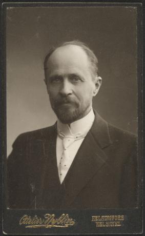 Kustantaja Werner Söderström. Kuva: Museovirasto