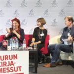 Siri Kolu, Lena Frölander-Ulf ja haastattelija Mårten Westö, Luovuusfysiikka - Kreativitesfysik.
